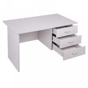 Стол письменный со встроенной тумбой 1200х700х750 Светло серый