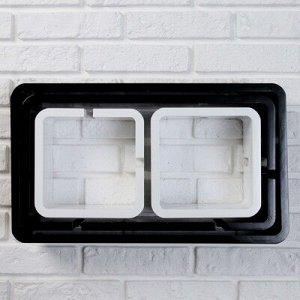 Набор настенных полок 4шт,черно-белые (большая 49*29см,средняя 46*24см,2 малых 20*20см) микс