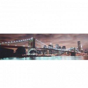 """Кухонный фартук ПВХ, фотопечать """"Бруклинский мост"""" 600х2000"""