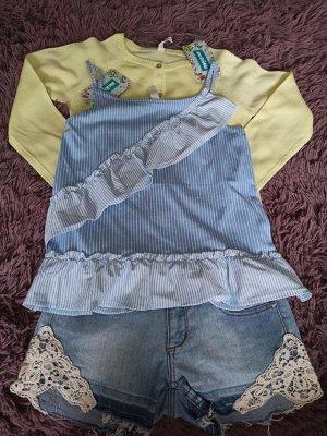 Майка детская для девочек Greece синий