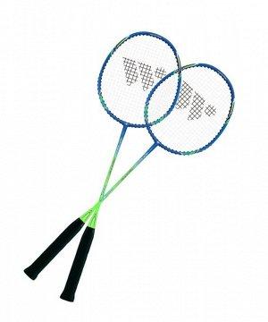 Набор для бадминтона WISH Fusiontec 770K (2 ракетки), синий/зеленый