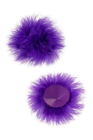 Пэстис Erolanta Lingerie Collection круглые с пухом фиолетовые