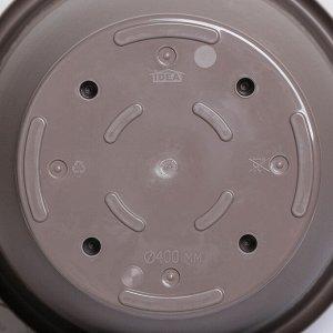 Кашпо с поддоном «Рябина», 22 л, d=40 см, цвет серый