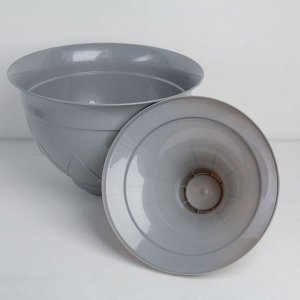 Горшок на ножке «Лилия», 9 л, цвет дымчатый серый