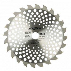 Нож для триммера Rezer GS-O Utra-Pro, 24 зуба, 230x25.4x1.3 мм, твердосплавные резцы