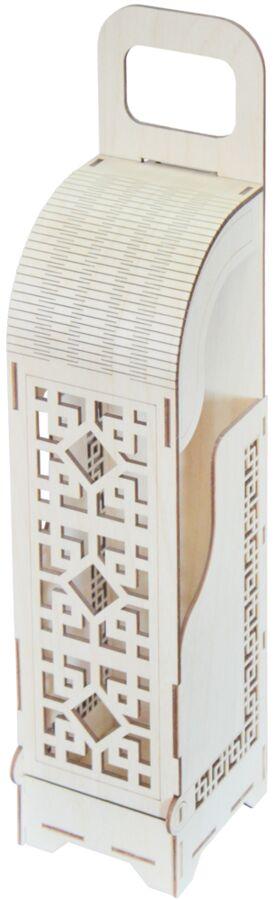 Шкатулка Шкатулка для бутылки Материал изделия: фанера Длина 90 мм, ширина 95 мм, высота 420 мм