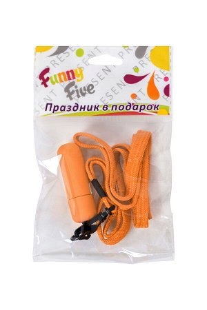 Вибратор Sexus Funny Five, ABS пластик, оранжевый, 5,5 см, 1 шт.