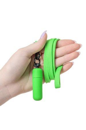 Вибратор Sexus Funny Five, ABS пластик, зеленый, 5,5 см, 1 шт