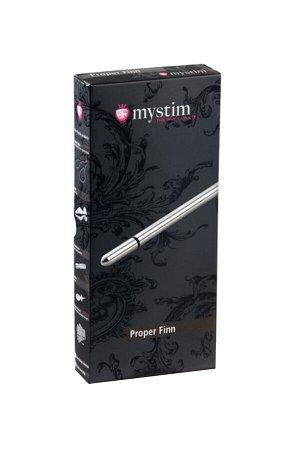 Электростимулятор уретры Mystim Proper Finn, хирургическая сталь, серебристый,20 см