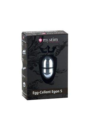 Электростимулятор яйцо Mystim Egg-cellent Egon S ,хирургическая сталь, серебристый,5.5 см