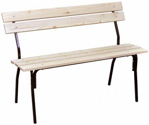 """Скамейка Скамейка """"ХИТ"""" 1,2 Каркас изготовлен из качественного стального профиля, покрытого порошковой краской. Все поверхности изготовлены из древесины хвойных пород.  Мебель очень надежна и удобна."""