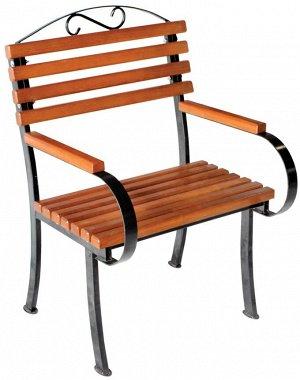 """Кресло Кресло """"Романтика"""" Каркас изготовлен из качественного стального профиля, покрытого порошковой краской. Все поверхности изготовлены из древесины хвойных пород. Для защиты деревянных элементов от"""