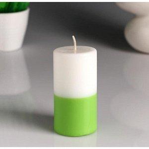 """Свеча- цилиндр """"Жасмин- Зелёный чай"""" ароматическая, 5,2?9,5 см"""