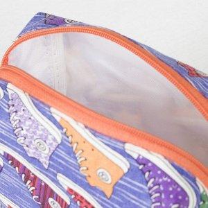 Косметичка дорожная, отдел на молнии, с подкладом, цвет голубой