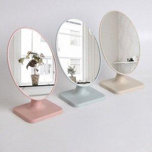 Зеркало настольное, зеркальная поверхность 14,3 ? 20 см, МИКС