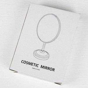 Зеркало настольное, на гибкой ножке, зеркальная поверхность 14,5 ? 20,2 см, цвет чёрный/белый