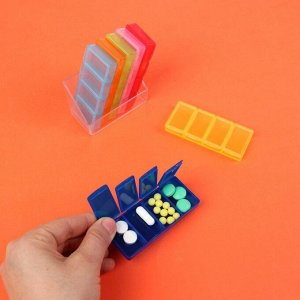 Таблетница-органайзер «Неделька», 7 контейнеров по 4 секции, разноцветный