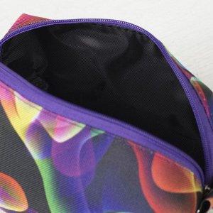 Косметичка дорожная, отдел на молнии, с подкладом, цвет разноцветный