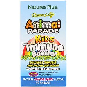 Nature's Plus, Source of Life, Animal Parade, добавка для укрепления детского иммунитета 90 шт.