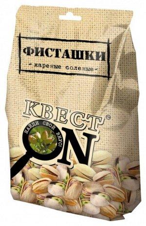 Фисташки солёные КВЕСТ ON пакет 100г