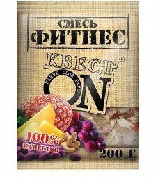 Смесь КВЕСТ ON ФИТНЕС (кешью, ананас, изюм, арахис) пакет 200гр СРОК ГОДНОСТИ ДО 16.04.21
