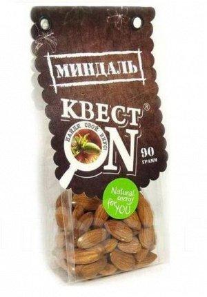 Миндаль КВЕСТ ON очищенный пакет 90г