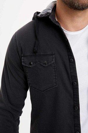 рубашка Размеры модели: рост: 1,88 грудь: 98 талия: 81 бедра: 94 Надет размер: M  Хлопок 70%,Elastan 5%, Полиэстер 25%