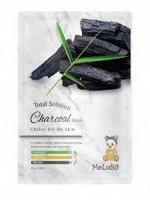 Meloso Total solution charcoal Маска тканевая с углем, 25 гр