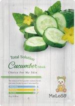 Meloso Total solution cucumber mask Маска тканевая на основе огурца, 25 гр