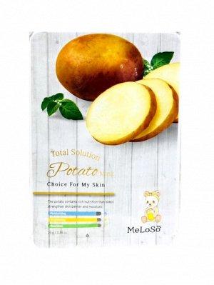 Meloso Total solution potato mask  Маска тканевая для лица с экстрактом картофеля, 25гр