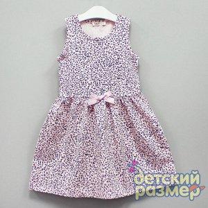 Платье Платье для девочек: - выполнено из тонкого и легкого хлопкового трикотажа - классической крой с расклешенной юбкой - стильные анималистичные расцветки в розовых тонах - на талии маленький банти