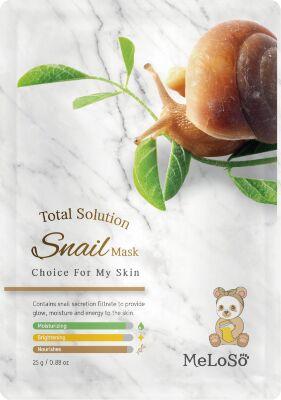 Meloso Total solution snail mask Маска тканевая с муцином улитки, 25 гр