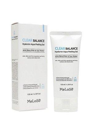 Meloso Clear Balance Hyaluron Aqua Peeling Gel Gb Пилинг-гель с гиалуроновой кислотой, 130 мл