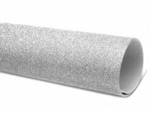 Фоамиран с глиттером а4 серебро 1 лист