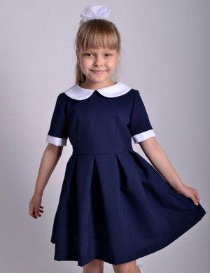 Школьное платье Алиса Темно-синее