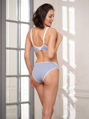 Бюстгальтер Elena голубой меланж  (хлопок 58% PE 37% эластан 5%)