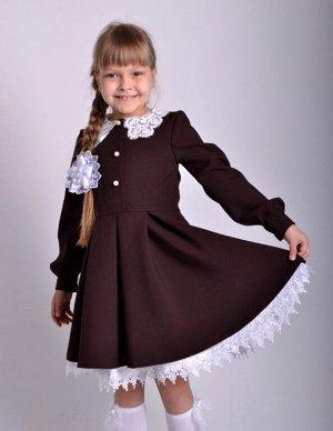 Школьное платье Милана Горький шоколад