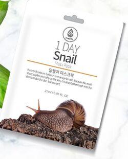 Medb 1 Day Snail Mask Pack Тканевая маска с экстрактом граната
