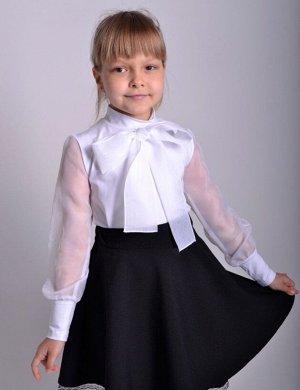 Школьная блузка с пышным бантом