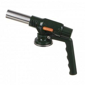 Горелка газовая ЧИНГИСХАН с пьезорозжигом, цанговый захват, широкое сопло, с рукоятью; 20,5х4х11,9см