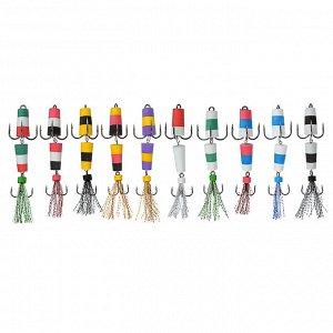 Мандула-флажок классическая AZOR  FISHING 2-х секционная, 6 цветов, метал, 8 см
