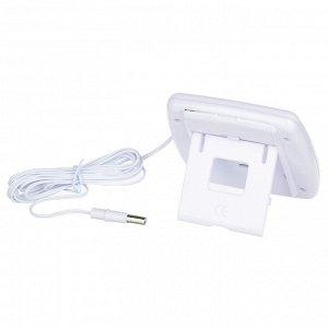 INBLOOM Термометр электронный 2 режима, с уличным датчиком, пластик, 7,5x7,6см