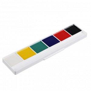 ClipStudio Краски акварельные медовые 6 цветов без кисточки в картонной упаковке