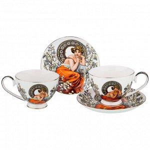 """Чайный набор на 2 персоны """"топаз"""" (а. муха) 4 пр. 250 мл (кор=12шт.)"""
