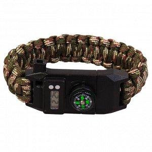 Тактический браслет с часами, скрытым ножом и компасом (EM128-1) №79
