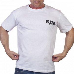 Однотонная мужская футболка ВДВ с эмблемой десанта на спине. ОЧЕНЬ ДЁШЕВО! №304
