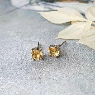Самоцветы - браслеты из натуральных камней — Пусеты — Серьги