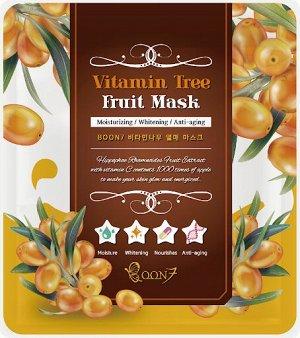 Boon7 Vitamine Tree Fruit Mask Тканевая маска с витаминами,