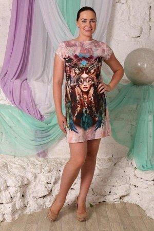 """245 Платье летнее """"Розовый"""""""