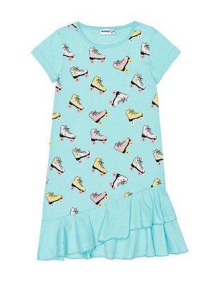Платье Параметры: ЦветМятный Размеры128, 134, 140, 146, 152 ОписаниеСостав: 100% хлопокТип полотна: СупремПлотность полотна: 150-160 гр./кв.м.Цвет: Мятный Платье для девочки выполнено из натурального